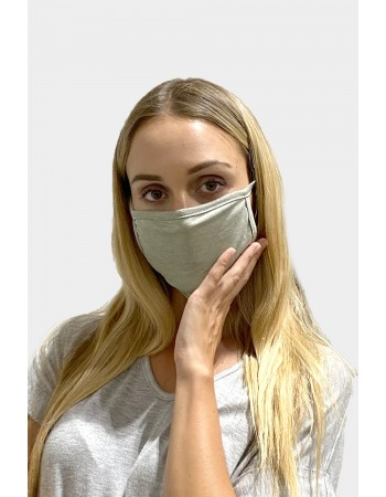 Chambray Jersey Mask - Green